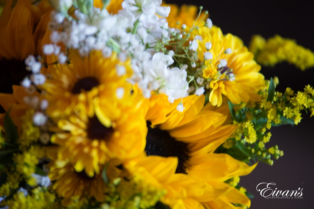A close up of the bride's bouquet look so bright and colorful which help to show how vivid this particular couple are.