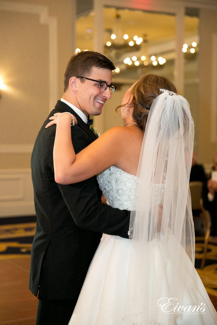 Sharing their first dance together and a shining moment they will never be able to forget.