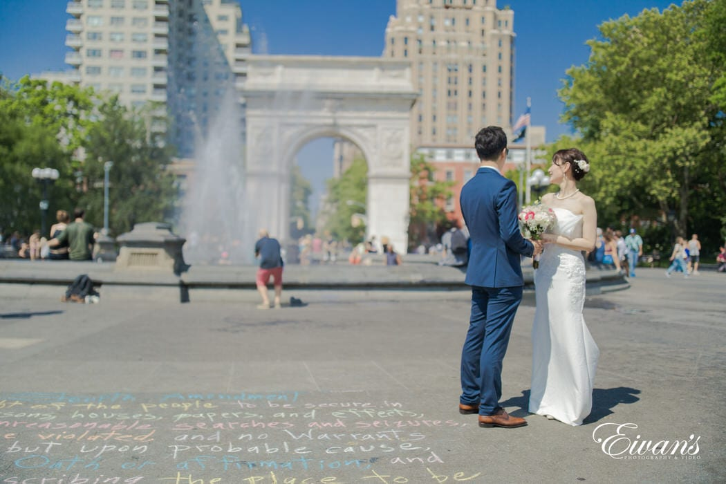 The couple overlooks the beauty of New York City and the outstanding people with plenty of different cultures.