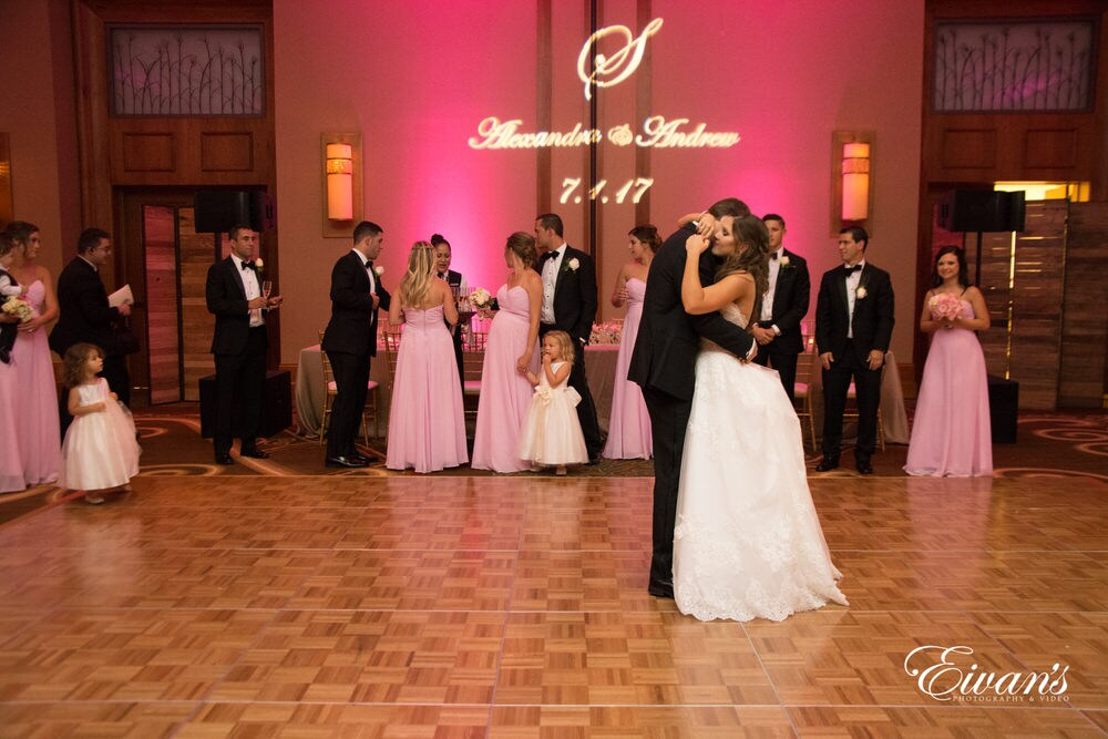 The now married couple share their first dance together as they start their new life together.