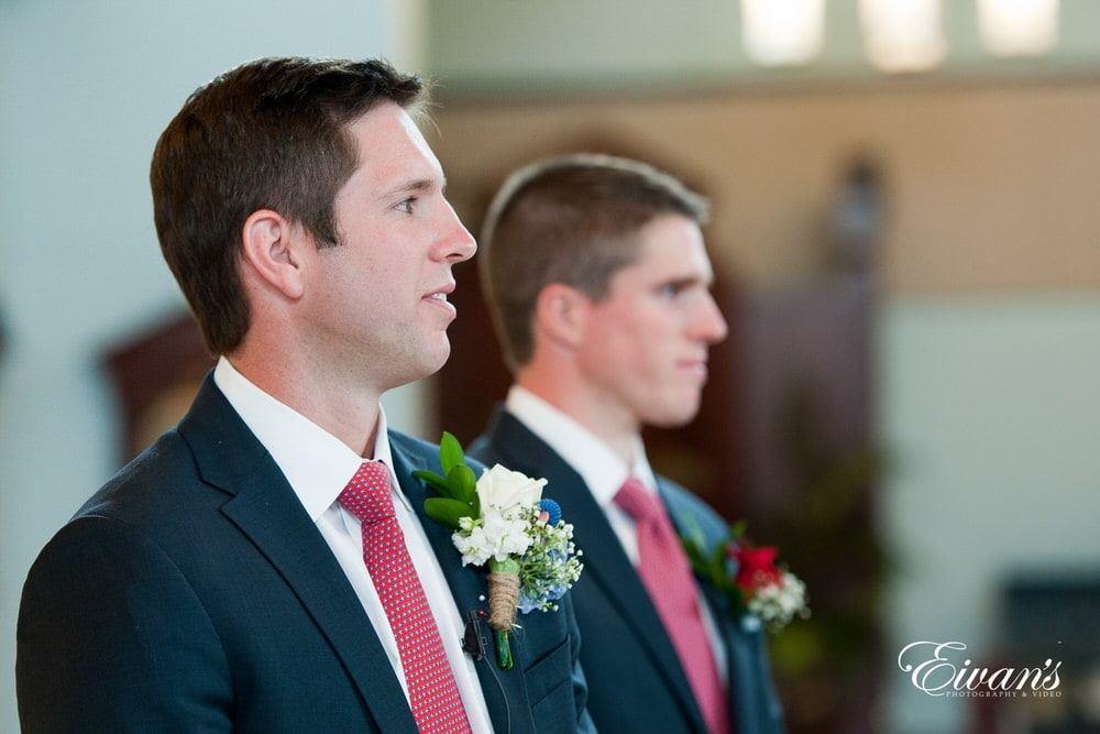 This is the moment the groom sees his beautiful walking down the isle to solidify their love.