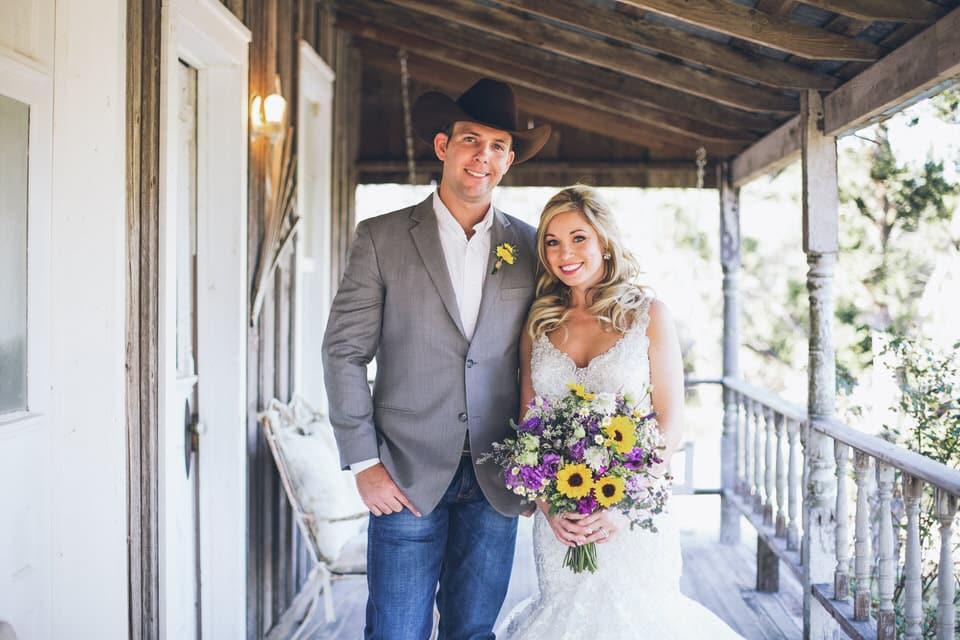 newlyweds standing side by side, austin wedding photographer portfolio