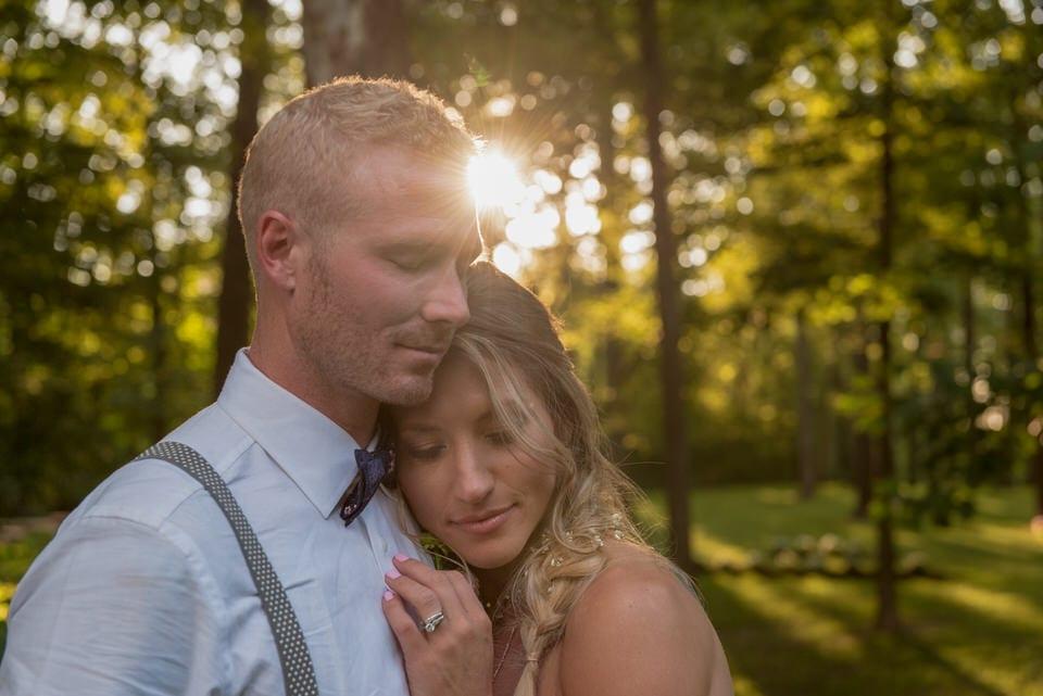 newlyweds sharing an intimate moment, indianapolis wedding photographer portfolio