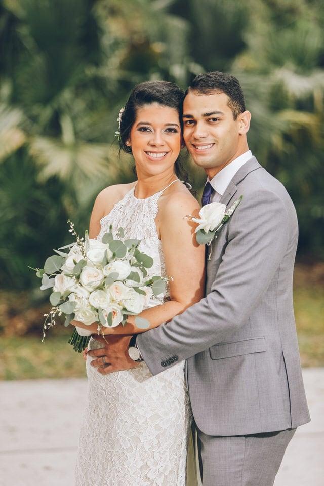 newlywed bride and groom portrait, orlando wedding photographer portfolio