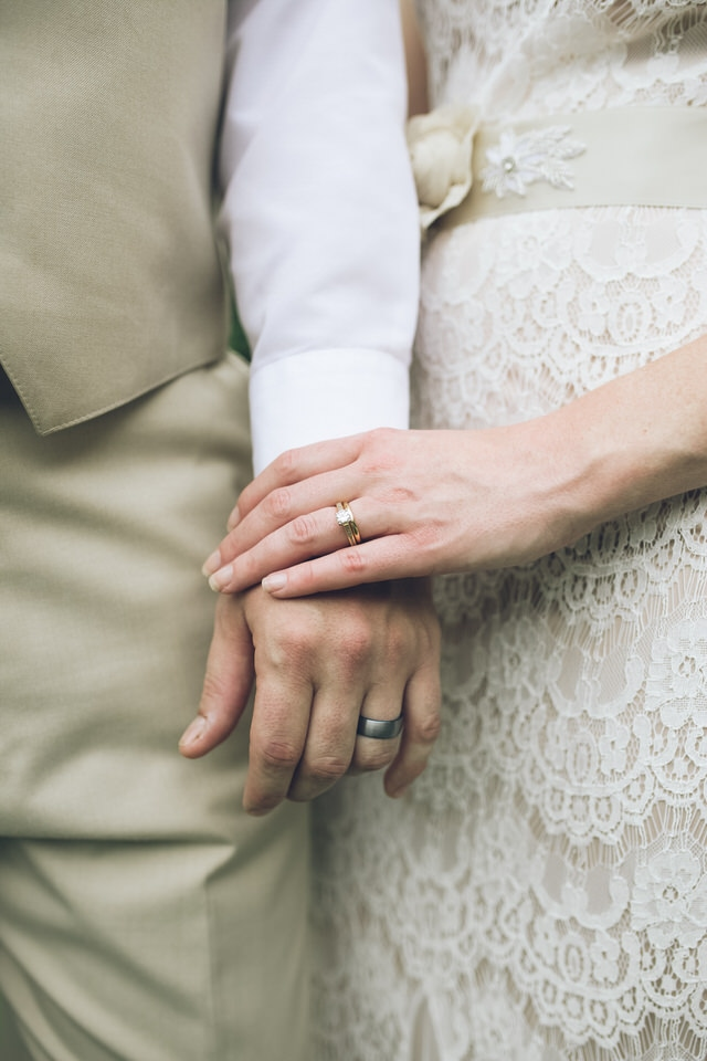 close-up shot of newlyweds hands, raleigh wedding photographer availability