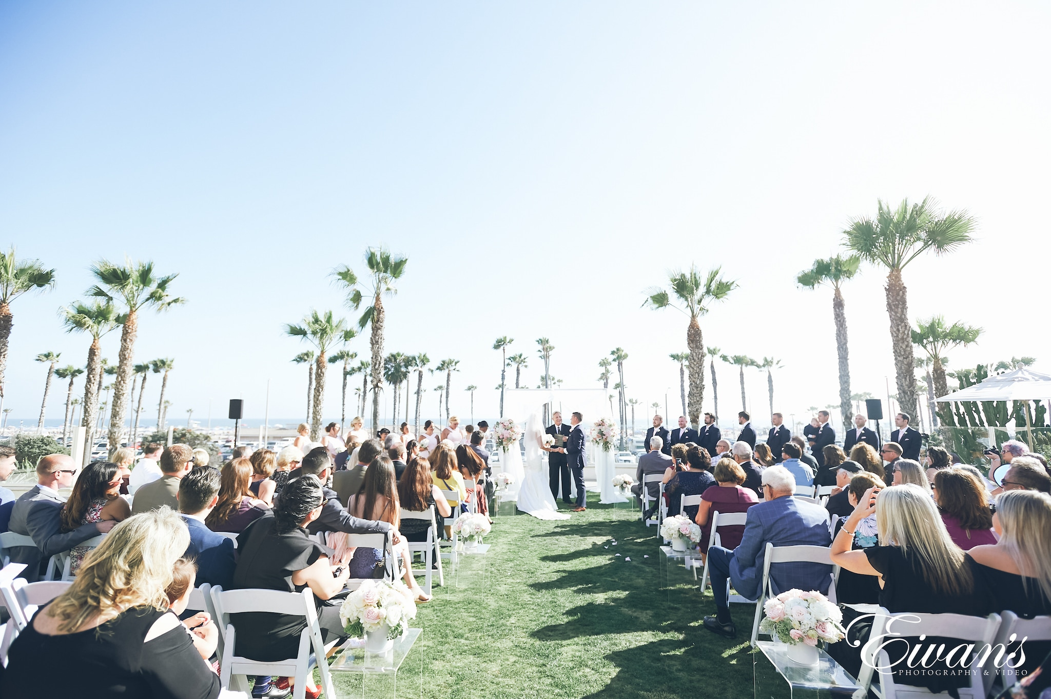 ceremony outside by a beach
