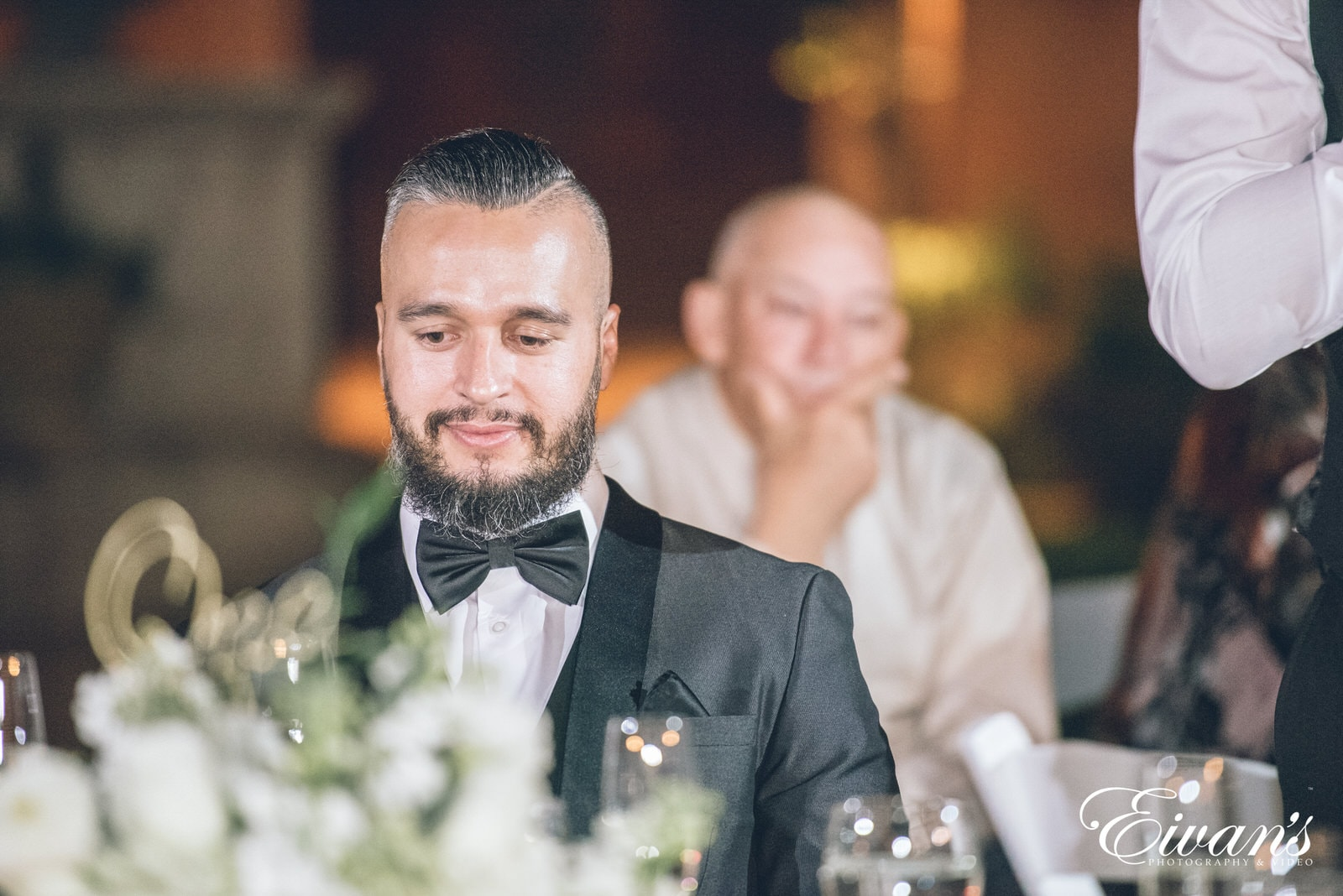 groom at the table