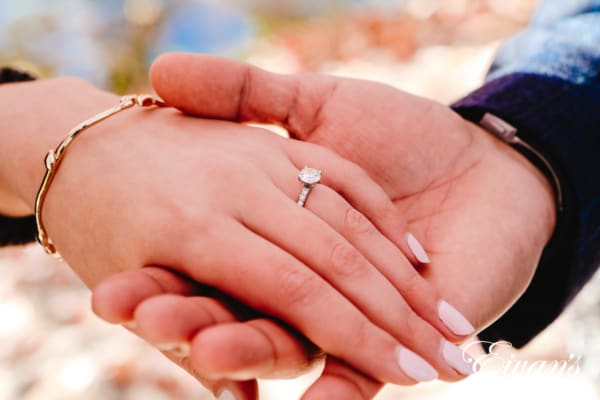 close up photo of engagement ring