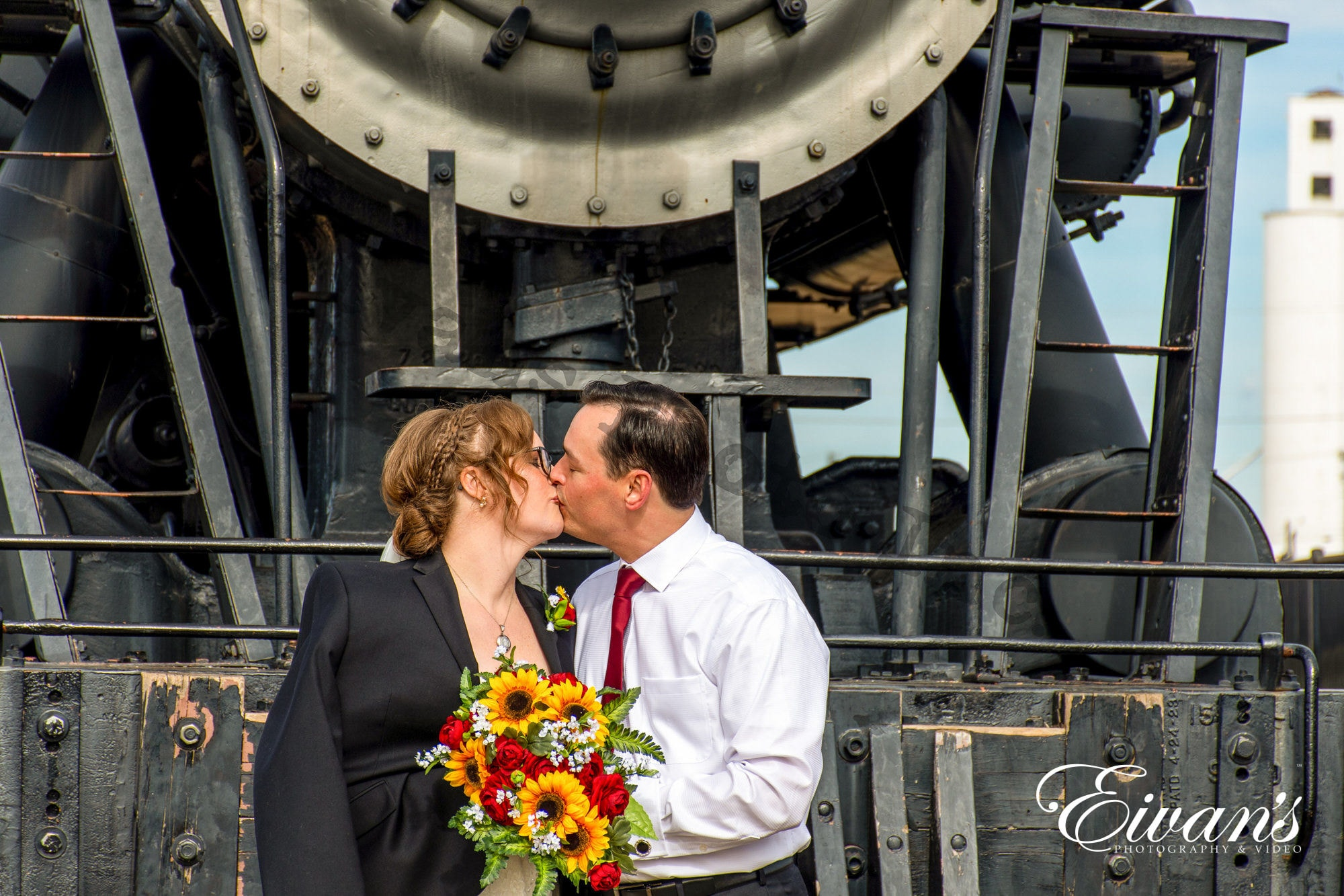 man and women besides train kissing