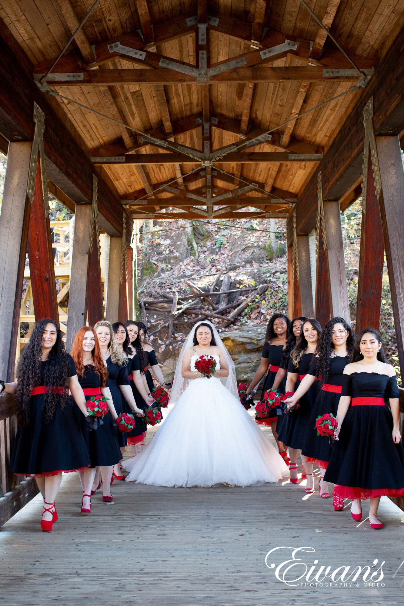 group of people in wedding dress