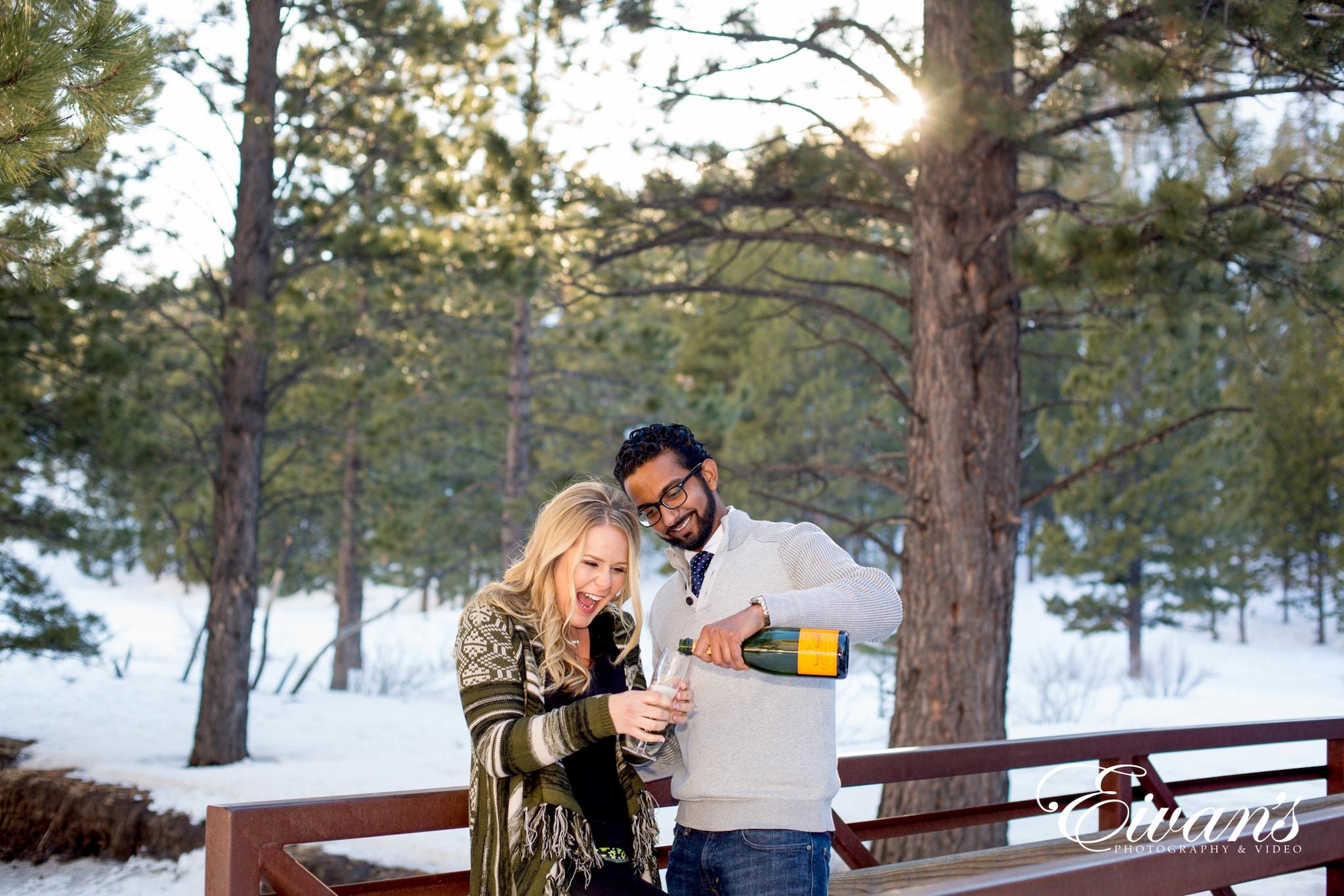 image of engaged couple