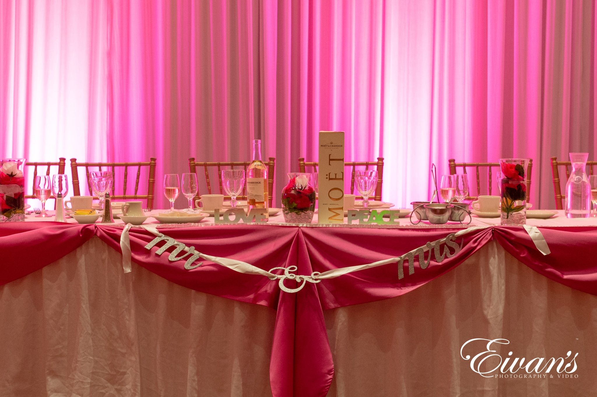 image of the bridal table