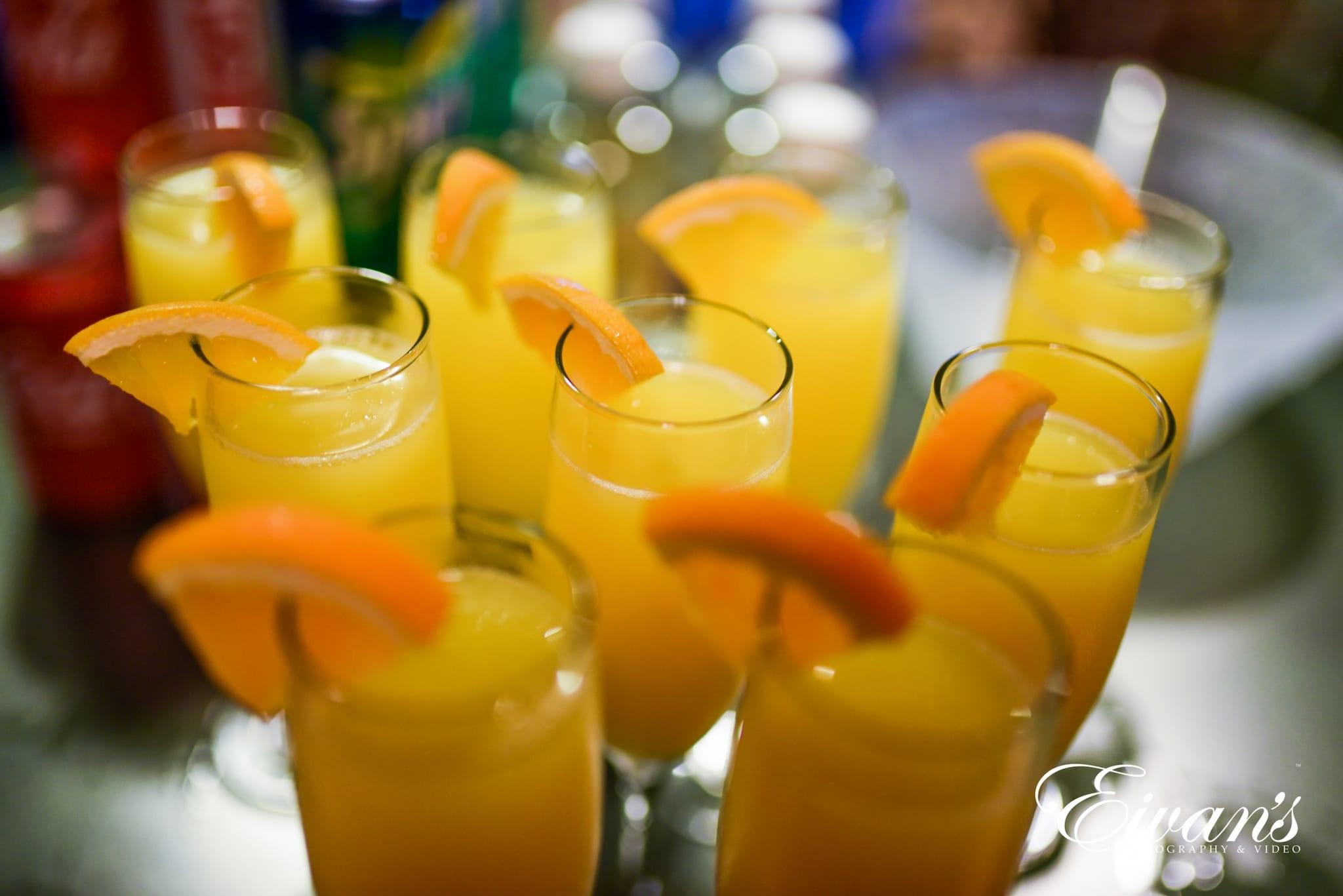 image of glasses of orange juice