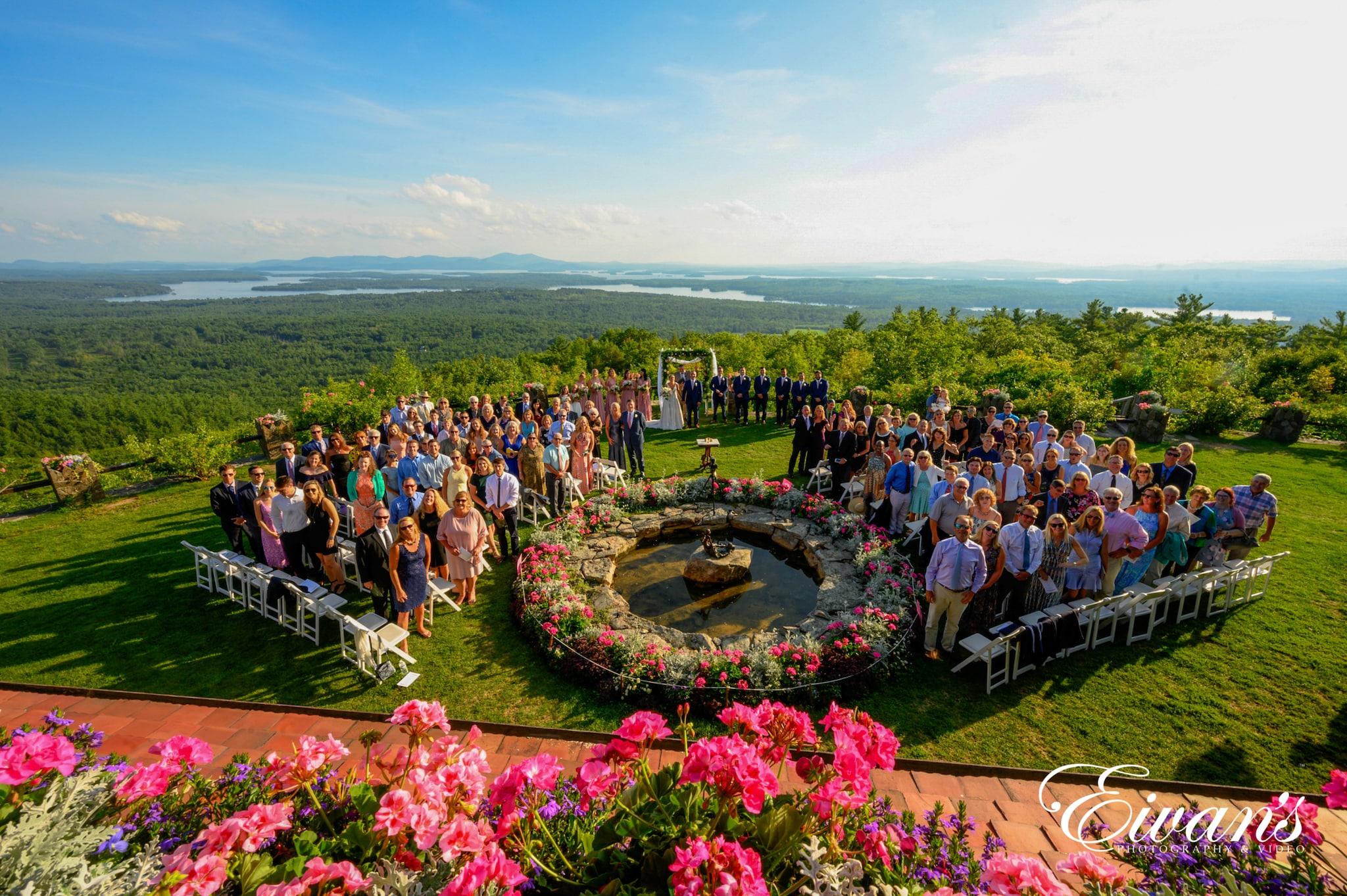 image of the entire wedding ceremony