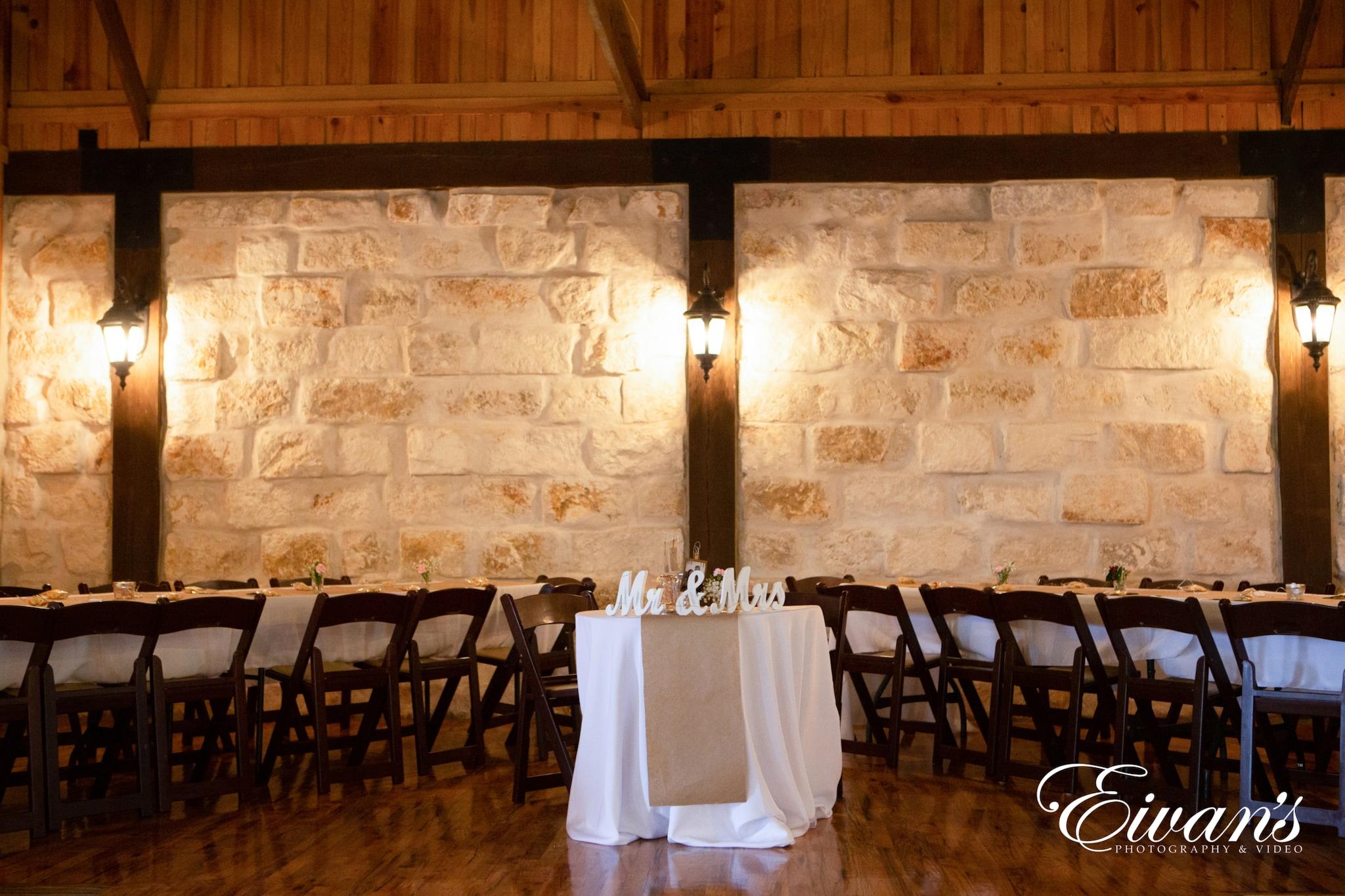 image of an indoor wedding venue