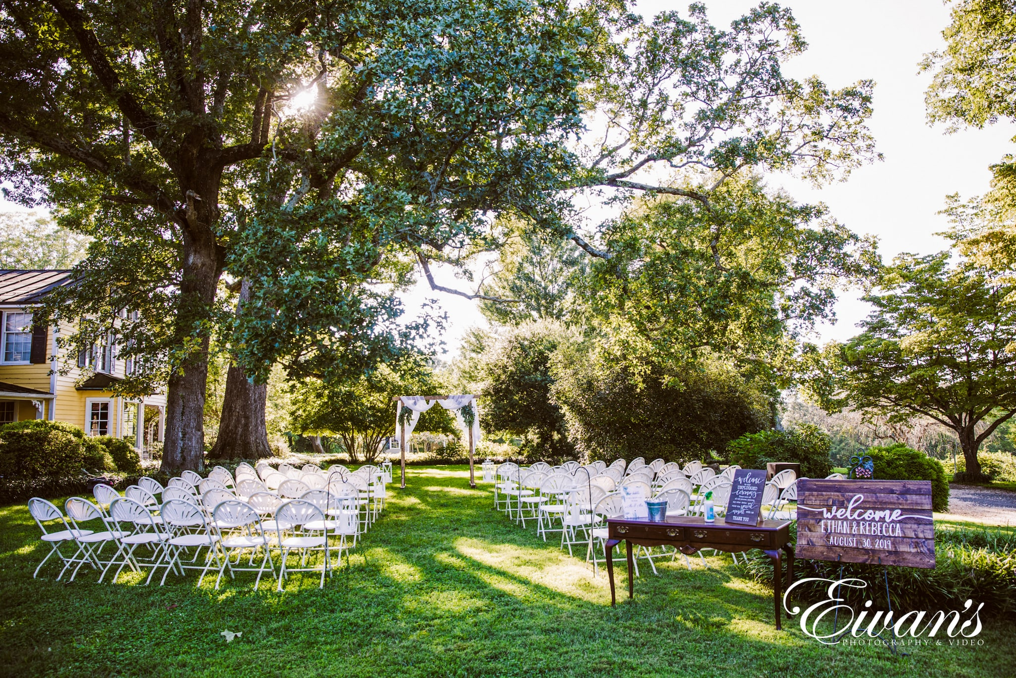 image of an outdoor wedding ceremony