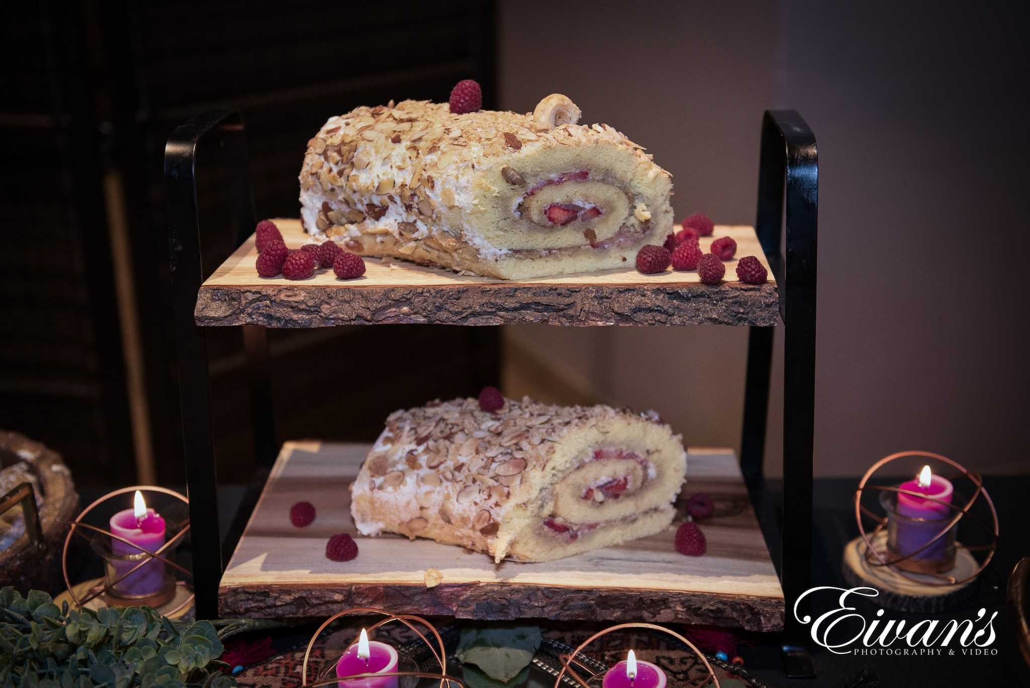 image of a log cake
