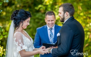 image of a bride and groom getting married