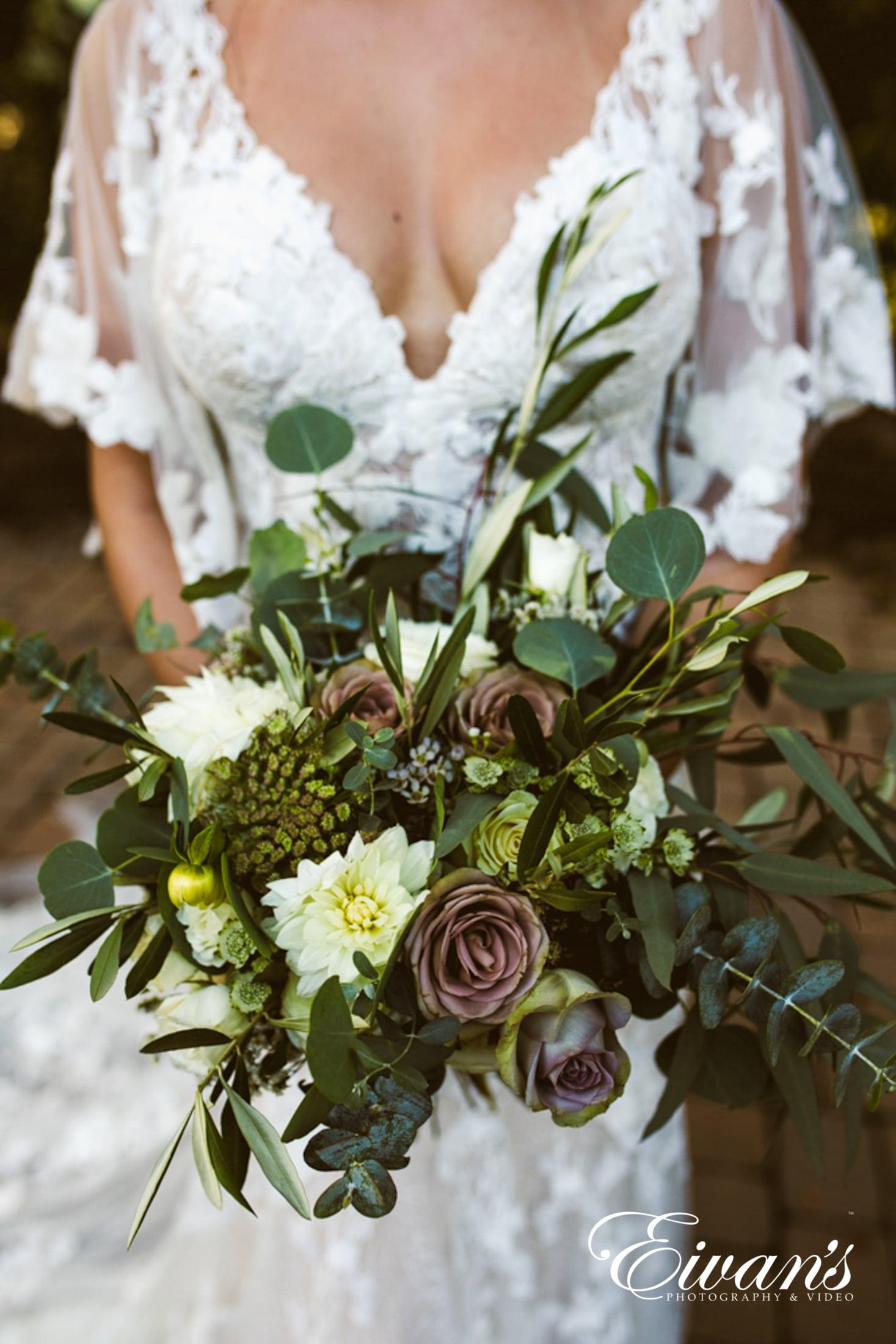 image of a bridal bouquet