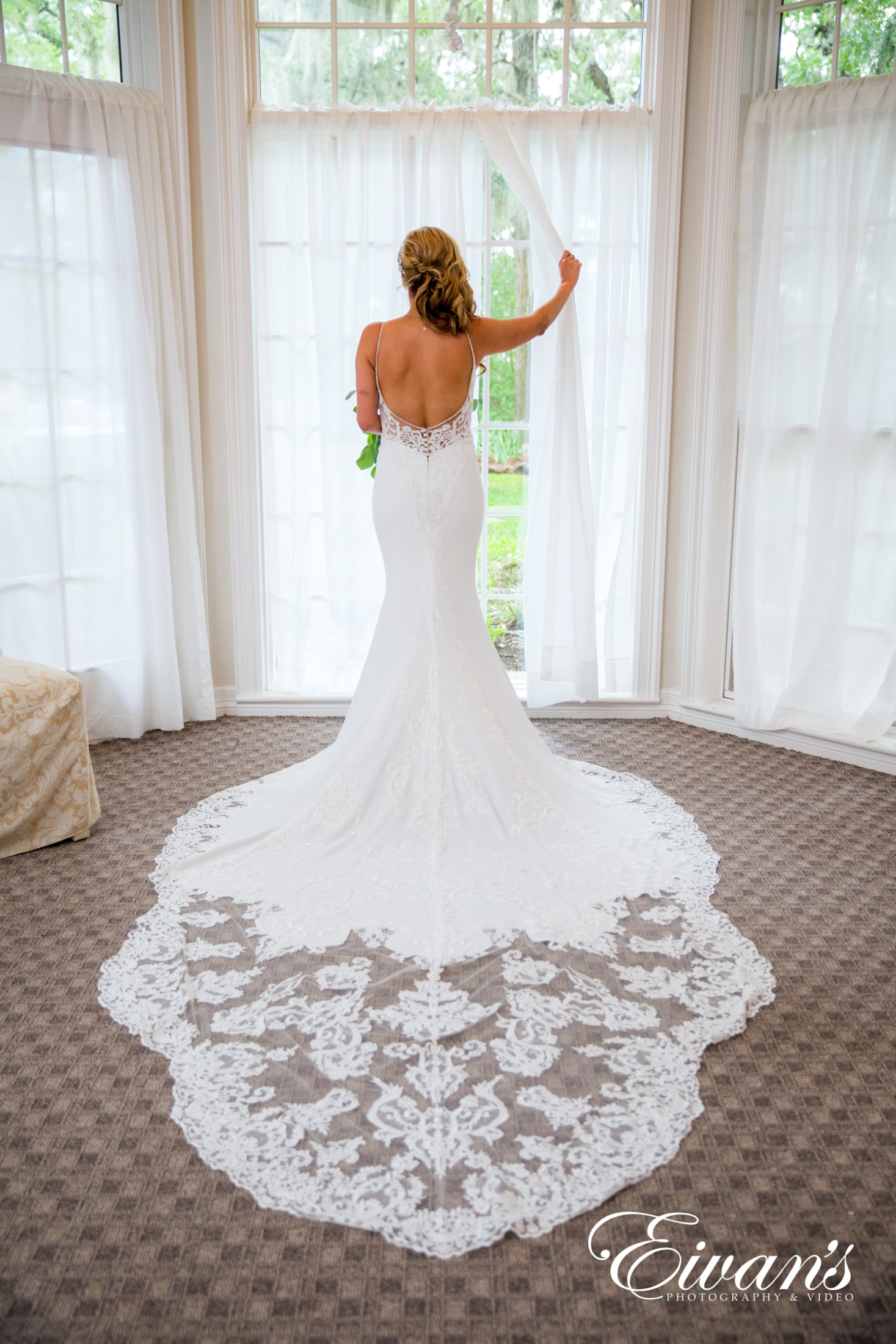 image of a bride wearing her wedding dress