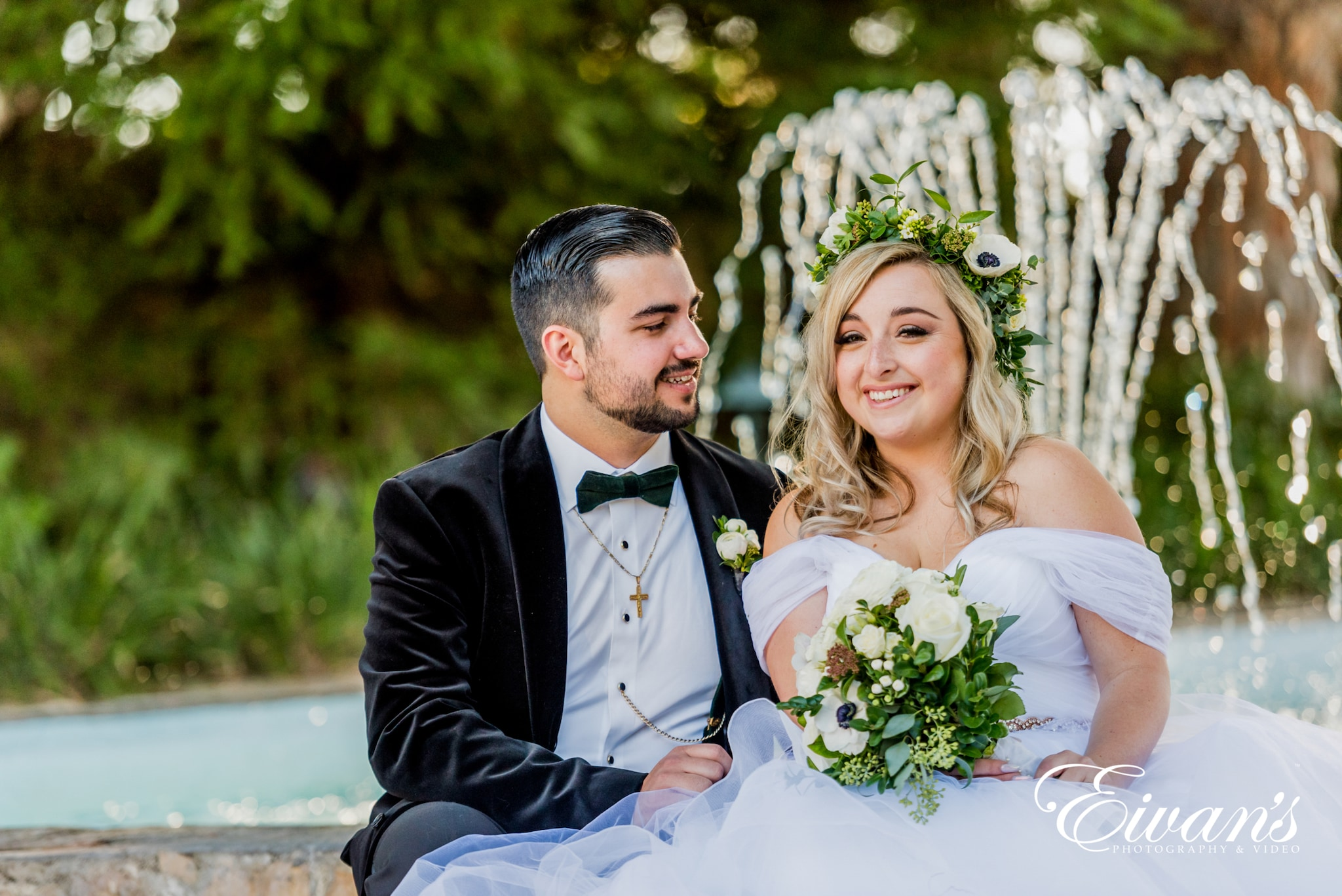 image of a bride and groom