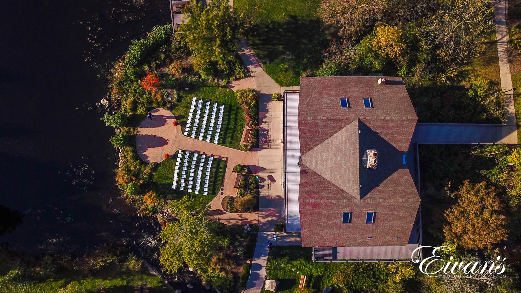 image of a birds eye view of the wedding venue