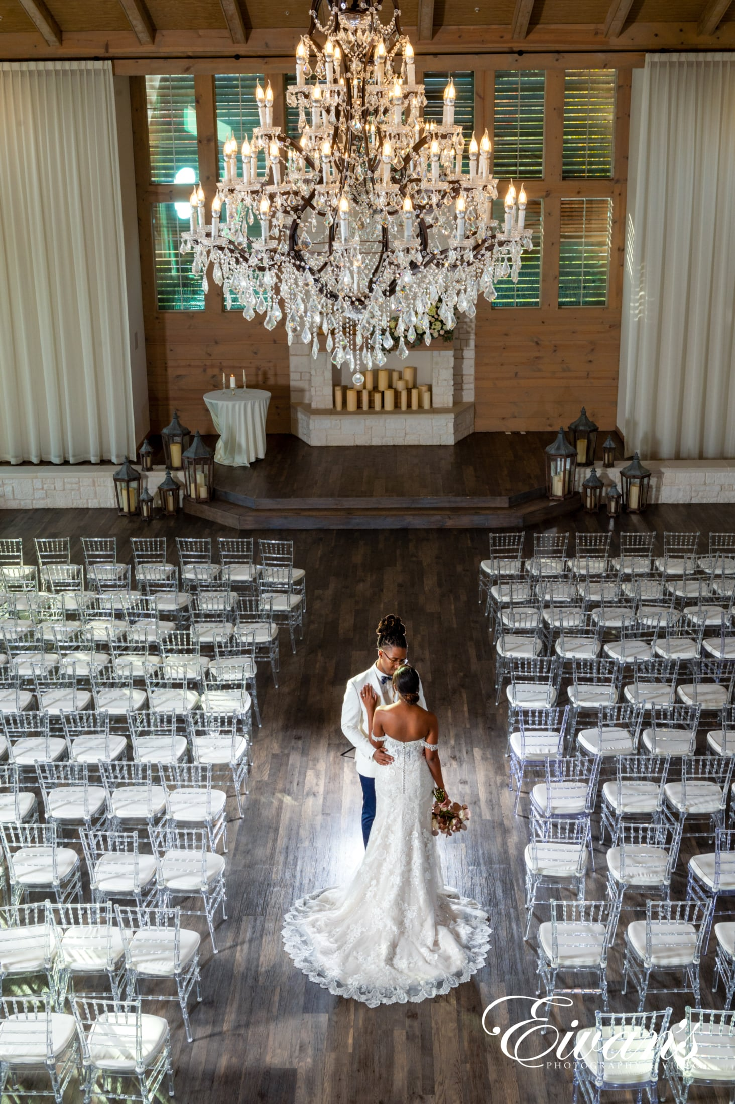 image of a married couple at their wedding venue