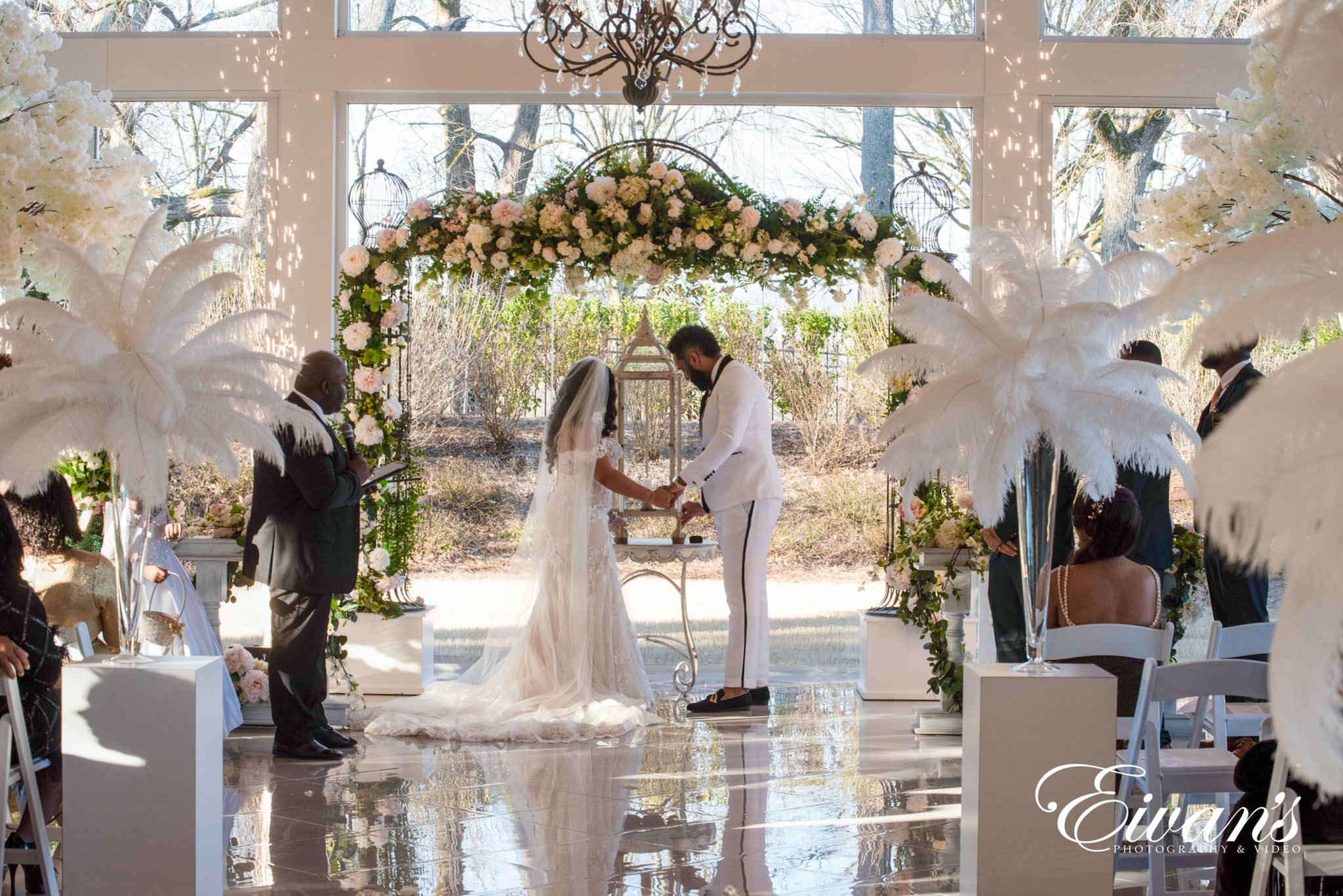 image of a married couple at the altar