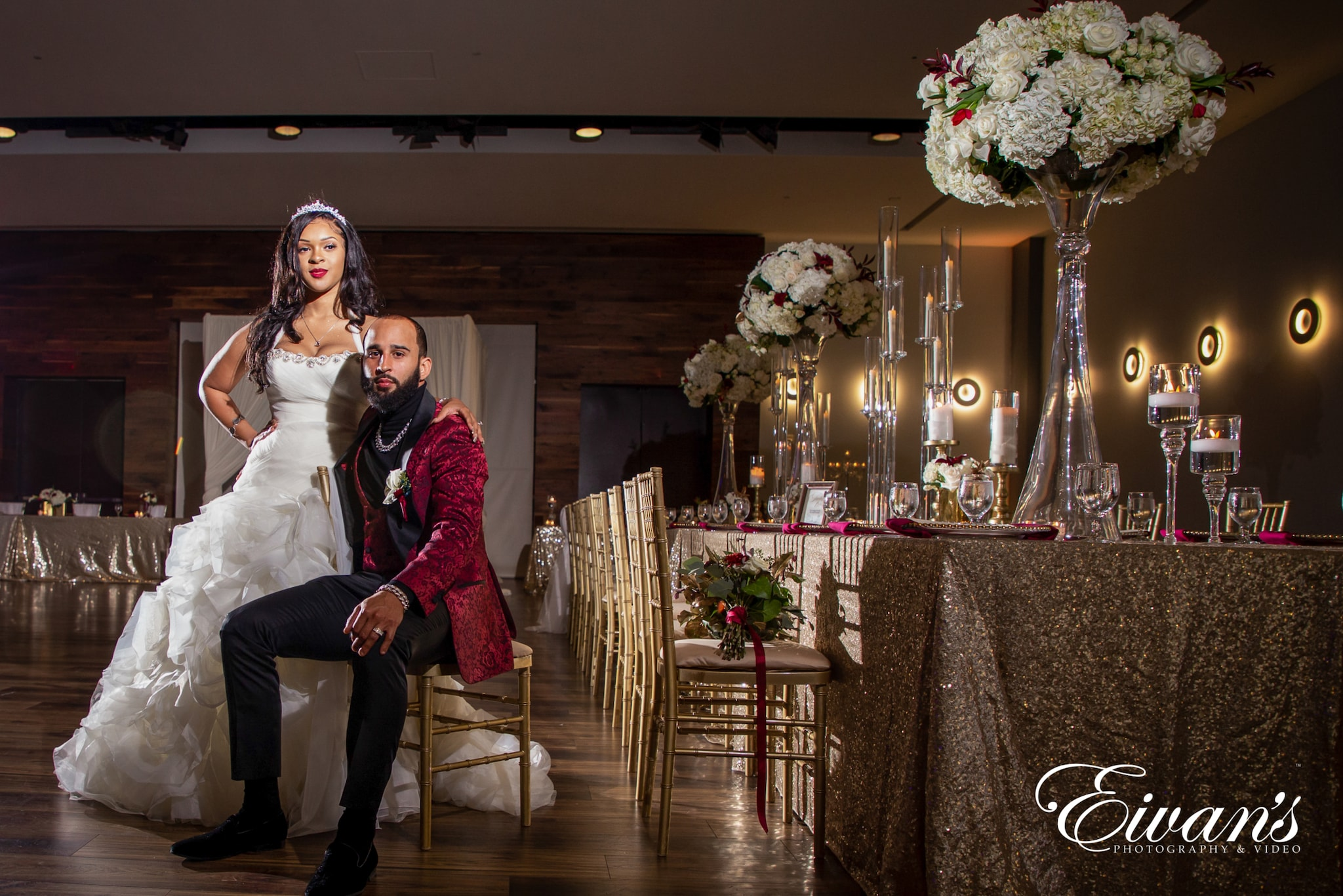 image of a married couple in their wedding venue