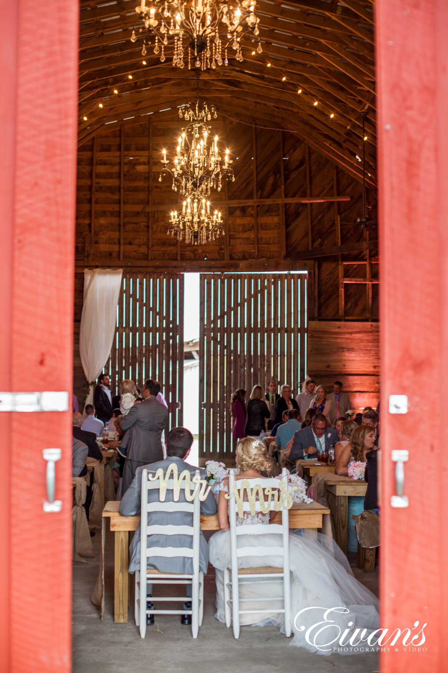 image of a married couple at their barn wedding venue